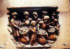 Misericord of Joseph hiding the cup, sixteenth century, Amiens Cathedral, France
