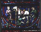 Farrier, Redemption window, 13th century stained glass, Chartres Cathedral, France