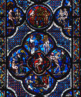 The Creation of Adam window no 6 south nave aisle 13th century Chartres Cathedral France