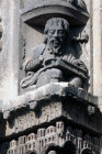 Aristotle detail from Royal Portal Chartres cathedral 12th century