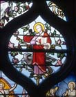St John, 19th century stained glass, Church of St Aignan, Chartres, France