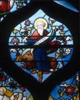 St Mark, 19th century stained glass, Church of St Aignan, Chartres, France