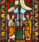 Moses and Aaron, detail from  twelfth century Moses panel, Munster Landesmuseum, Munster, Germany