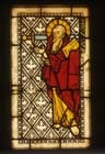 St Paul, stained glass panel 1250-60, Munster Landesmuseum, Munster, Germany