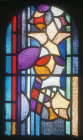 West window by Heinrich Campendonk, 1953, Essen Munster, Germany