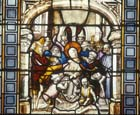 Ecce Homo, 15th stained glass, Passion window, Sacraments Chapel, Cologne Cathedral, Germany