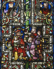 The Adoration of the Magi from the Bible Window in the Three Kings Chapel Cologne Cathedral, Cologne, Germany