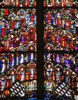 Saints, detail of window, fourteenth century, Cologne Cathedral, Germany