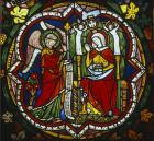 Annunciation, stained glass panel 1280-90, Chapel of St Stephen, Cologne Cathedral, Germany