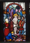 Flagellation, 15th century stained glass by Hans Acker, Besserer Chapel, Ulm Cathedral, Germany