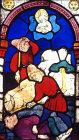 Cain killing Abel, fifteenth century, Hans Aker, Besserer Chapel, Ulm Munster, Germany