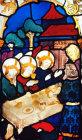 Abraham entertaining angels, fifteenth century, Hans Aker, Besserer Chapel, Ulm Munster, Germany