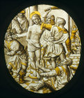 The Scouring of Jesus, stained glass roundel, Darmstadt Museum, Germany