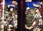 Two spies, 1479, Rieter window, St Lorenz Church, Nurnberg, Germany