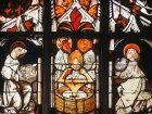 Symbols of the Evangelists, 1481, Schusselfelder window, Lorenzkirche, Nuremberg, Germany