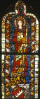 Germany, Regensburg, St Helena, panel in the triforium of the choir of Regensburg Cathedral