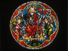 Ascension of Christ, fourteenth century, Tulenhaupt window, Freiburg Munster, Germany