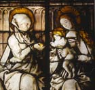 St Anne and Virgin and Child, St Anne window, 17th century stained glass, Alexander Chapel, Freiburg Munster, Germany