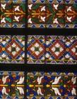 Esslingen birds, 19th century copy of 14th century stained glass panel, Frauenkirche, Esslingen, Germany