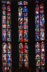 Choir window, twentieth century, by Walter Benner, Aachen Cathedral, Germany