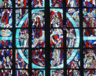 Rozenkranz window by Wilhelm Geye, twentieth century, Aachen, Cathedral, Germany