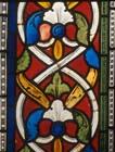 Foliate border, 13th century stained glass, St Kuniberts window, Church of St Kunibert, Cologne, Germany