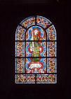 St Cecilia, patron saint of music, thirteenth century, Church of St Kunibert, Cologne, Germany