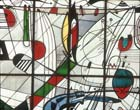 Colour Tones of Music, 20th century stained glass by Georg Meistermann, Funkhaus, Cologne, Germany