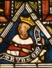 King David, detail from Solomon panel, 1360-70 stained glass, Munster Landesmuseum, Germany