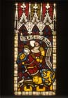 Johann I, Knight of House of Nassau, stained glass 1360-70, Munster Landesmuseum, Germany
