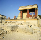 Greece, Crete, Knossos, Palace of Minos, the Bull Verandah