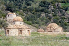 Group of Byzantine churches, Limona Monastery, founded 1523 by St Ignatius, Lesbos, Greece