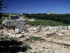 Greece, Crete, Aptera, view over the living area and the Roman Bath house complex on the left