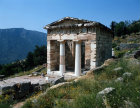 Greece Delphi Treasury of the Athenians built 490-489 BC of Paros marble