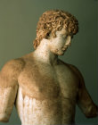 Greece Delphi Antinous, Greek born in Claudiopolis Bythinia, favourite of Hadrian, statue made of Paros marble 130-138 AD