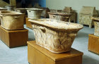 Minoan sarcophagi, Heraklion Museum, Crete, Greece