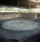 Hearth in the palace, of Nestor an Argonaut who became King of Pylos, Pylos, Greece