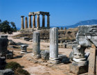 Greece Corinth the Temple of Apollo 6th century BC