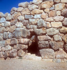 Postern gate, Mycenaean fortress, Tyrins, Greece