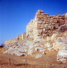 West and south cyclopean walls 1350-1250 BC, Mycenaean fortress, Tiryns, Greece