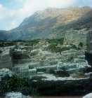 Phalasarna, ancient Greek harbour town, built 333 BC, Crete, Greece