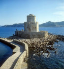 Bourtzi tower seen from Venetian fortress, Methoni, Greece