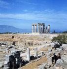 Corinth Greece Temple of Apollo 6th century BC