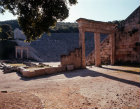 Greece Epidaurus the Theatre in the early morning light built by Polycleitos the younger 4th century BC