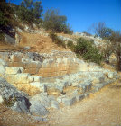 Remains of Minoan town of Malia, Crete, Greece