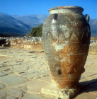 Large pithoi found in Minoan palace, Malia, Greece