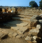 Flight of steps, Minoan town of Malia, Crete, Greece