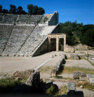 Greece Epidaurus the Theatre built by Polycleitos the younger in the 4th century BC the west  corner