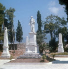 George Lord Byron, statue, Herves Park, Missolonghi, Greece