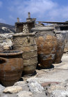 Greece, Crete, Knossos, Palace of Minos 2800-1100 BC, enormous pithoi used for oil ,wine and pulses